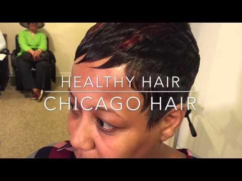 Short hair diva Frisco Texas HairStylist Dallas  black hair salon Chicago hair