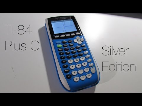 Ti 84 Plus C Silver Edition Graphing Calculator - YouTube