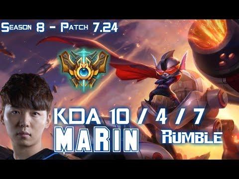 MaRin RUMBLE vs JAX Top - Patch 7.24 KR Ranked