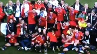 Siegerehrung SPANIEN WM 2010 SIEGER GLÜCKWUNSCH