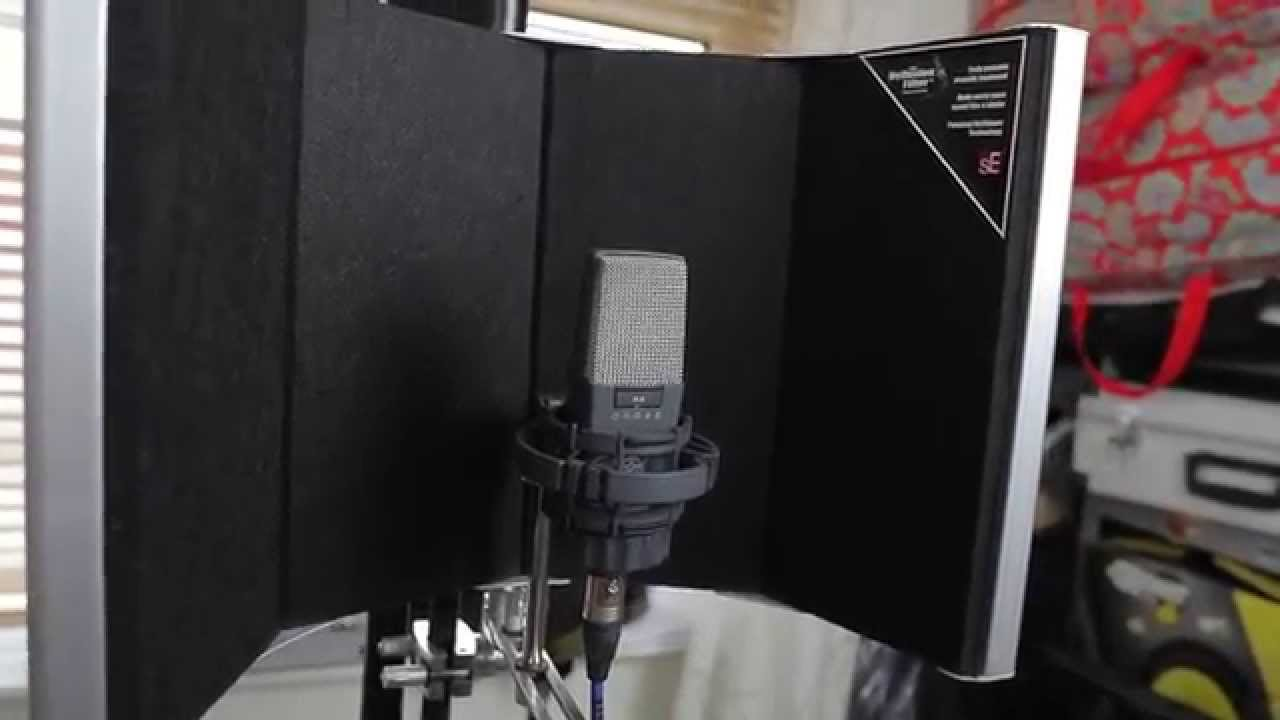 se reflexion filter space review and acoustic guitars demo progressive recording youtube. Black Bedroom Furniture Sets. Home Design Ideas