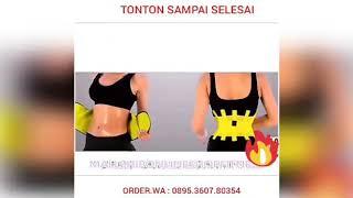 ORIGINAL HOT BELT POWER Pria wanita - Korset Pembakar Lemak - Pengecil pelangsing perut badan - Alat Gym Fitnes Fitness Olahraga zumba