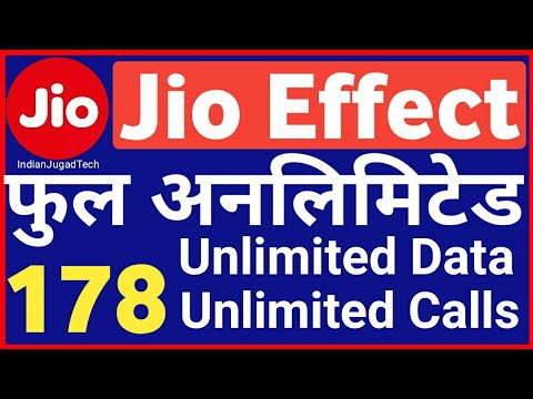 Jio 4G Effect : Full Unlimited DATA & Calls | No Daily Daily limit  New Plan only  in Rs. 178