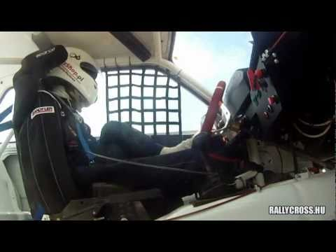 Bartosz  drives race car with his feet only! Incredible polish driving!