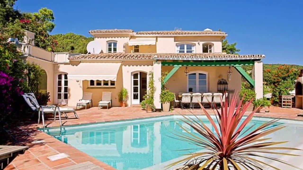 Location villa piscine marbella youtube for Location maison espagne piscine