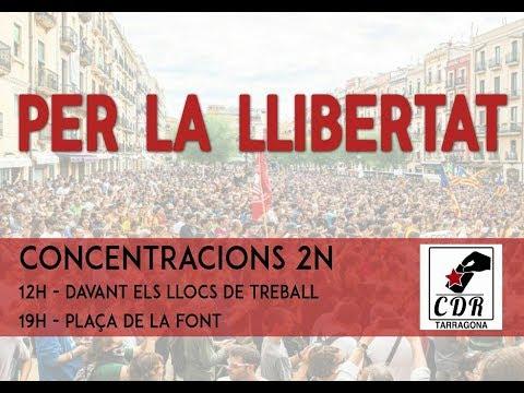 Mati CONCENTRACIÓ ajuntament Tarragona, DEFENSAR GOVERN CAT I PRESIDENT CARLES PUIGDEMONT.
