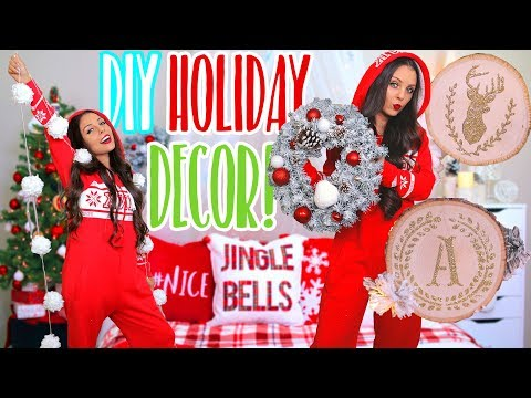 5 DIY HOLIDAY DECOR! Easy Christmas Decorations! 2017
