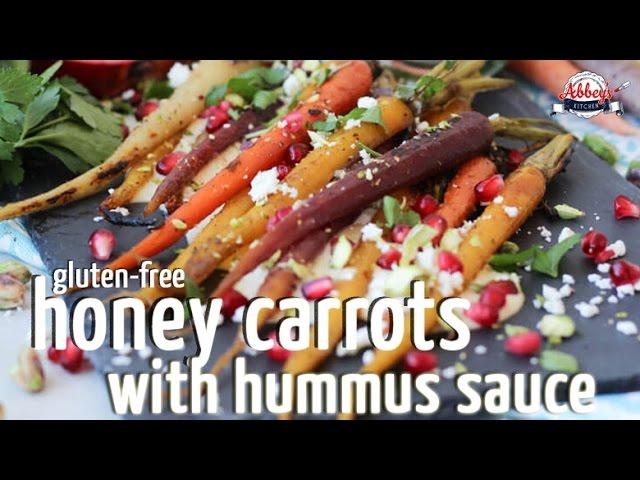 Za'taar Honey Roasted CARROTS with Hummus Sauce | GLUTEN FREE EASTERSpringSide Dish