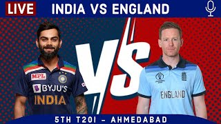 LIVE Ind vs Eng 5th T20I Last 10 Overs   India vs England 2021 Live cricket match today