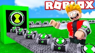 BEN 10 OMNITRIX FACTORY IN ROBLOX!