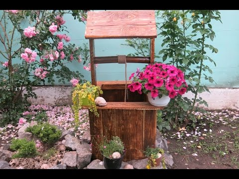 Колодец в сад своими руками Decorative well