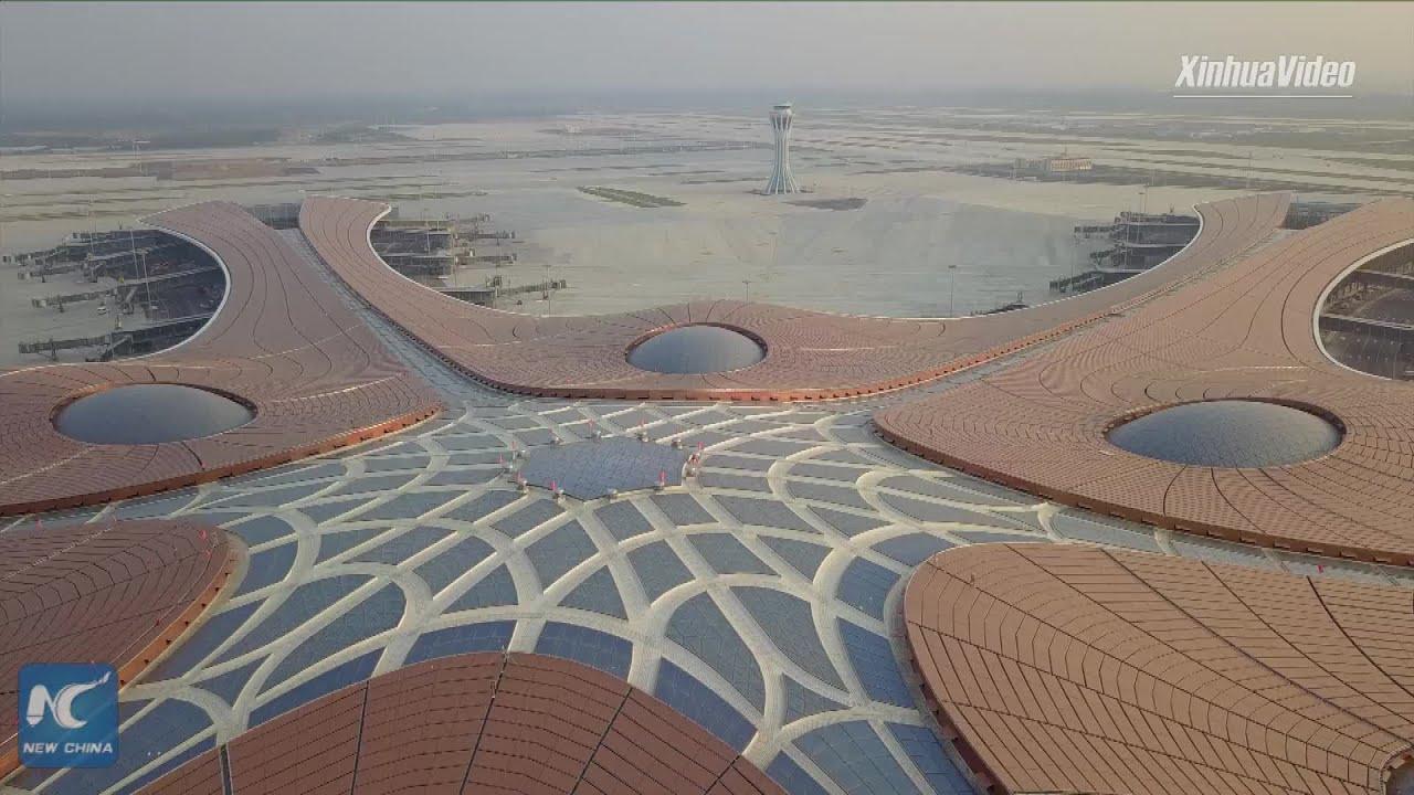 Download Aircraft hangar at Beijing's new airport sets Asian record