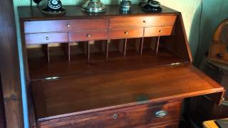 Antique Furniture Slant Top Desk Circa 1810