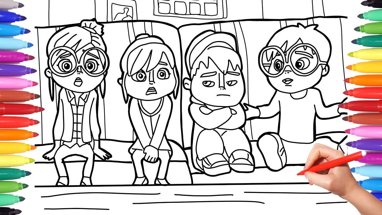 alvinnn and the chipmunks coloring pages for kids