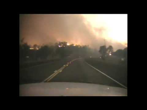 Dash Cam video from Valley Fire
