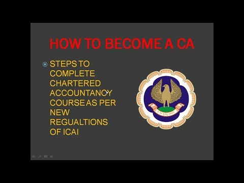 Chartered Accountancy course | How To become a CA as per new regulations of ICAI 2017