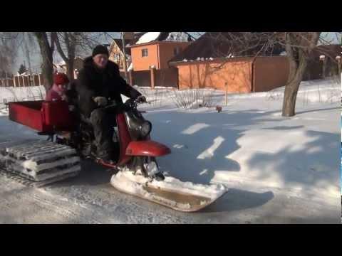 видео: снегоход муравей-палочник покатушки