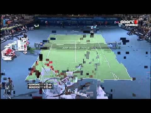 Novak Djokovic vs Tomas Berdych ATP Dubai Tennis Championships 2013