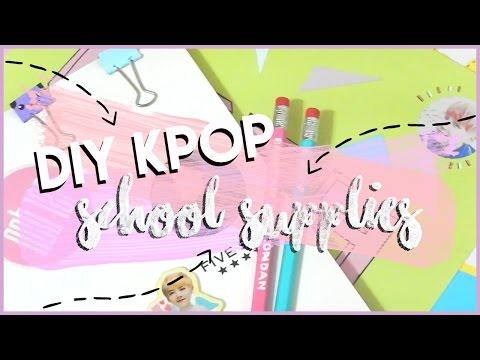 DIY KPOP Back to School Supplies    Pencils, Stickers, Binders, etc!