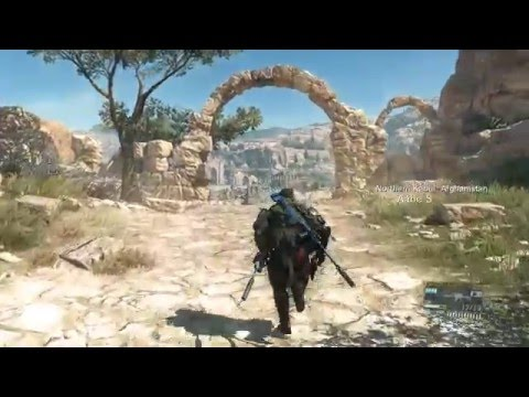 HOW BIG IS THE MAP in Metal Gear Solid V: The Phantom Pain? Run Across the Map