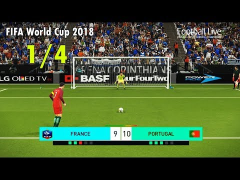 PES 2018  FIFA World Cup 2018  FRANCE vs PORTUGAL  Penalty Shootout  Gameplay PC