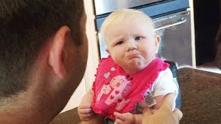 Funny Baby Reaction to Everything 😅 Fun and Fails Baby Video
