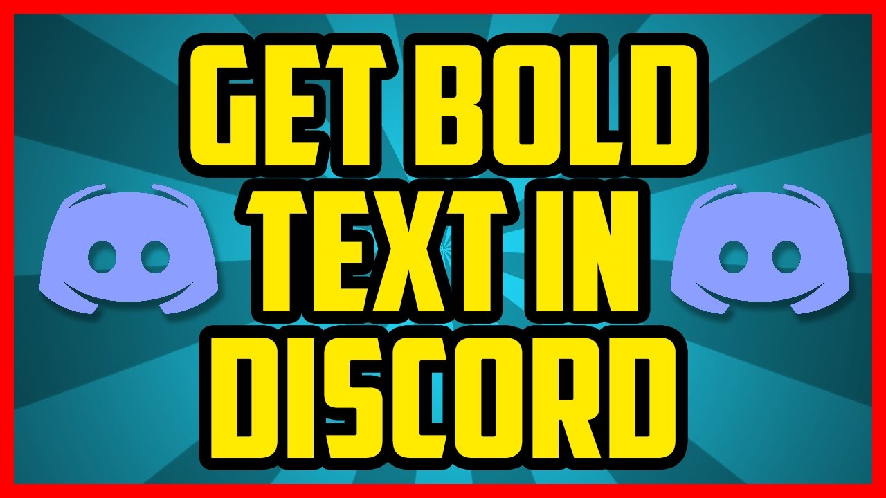 How To Write In Bold On Discord 2018 (QUICK & EASY) - Discord Bold Text  Tutorial