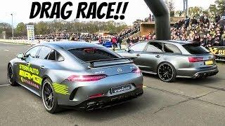 DRAG RACE!! - AMG GT63s 4-door vs. ABT Audi RS6+