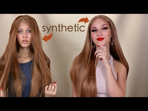 Turning A Synthetic Wig Into A Real One!