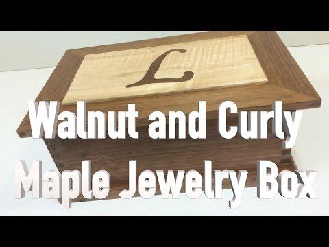 Walnut & Curly Maple Jewelry Box.  FarmCraft101