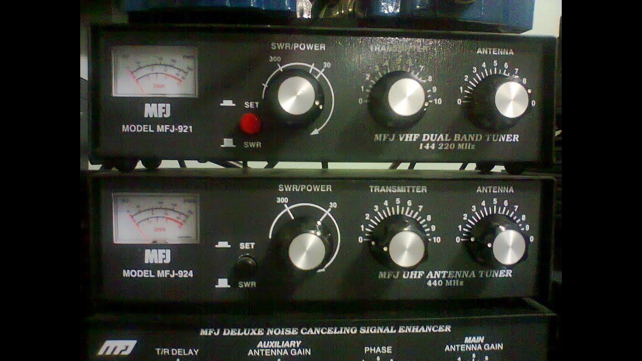 MFJ-921 e MFJ-924 antenna tuner para VHF e UHF