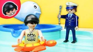 KARLCHEN KNACK -  Karlchens Flucht ins Schwimmbad - Playmobil Polizei Film #120