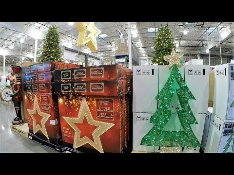 4K CHRISTMAS SECTION AT COSTCO WHOLESALE - Christmas Shopping Christmas Trees Decorations Ornaments