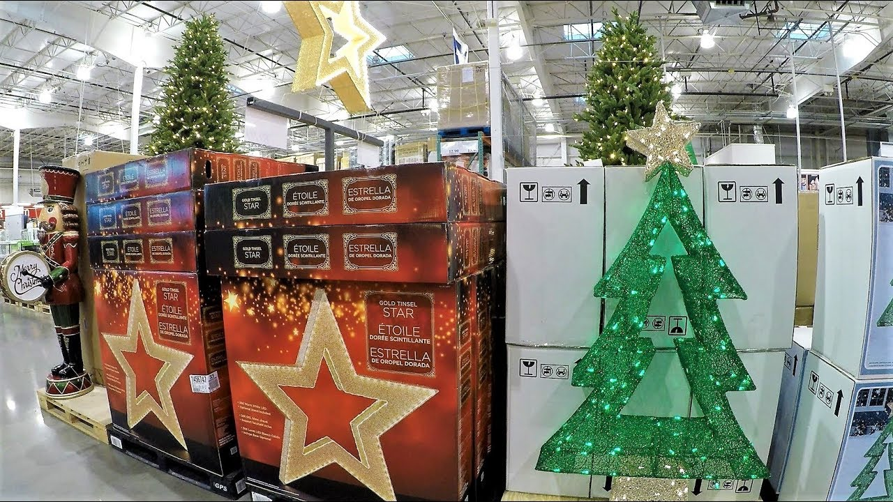 4k christmas section at costco wholesale christmas shopping christmas trees decorations ornaments - Costco Christmas Decorations 2017 Australia