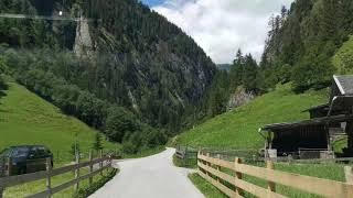 Driving from Stillup Stausee to Mayrhofen ( Austria, Tirol, Zillertal)