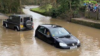 Rufford Ford || Vehicles vs DEEP water compilation || #9