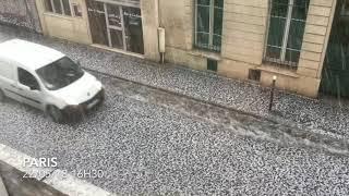 Violent orage de grêle Paris 22/05/18