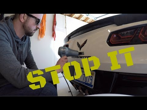 Dealers, Stop This! Corvette C7 Badge Removal