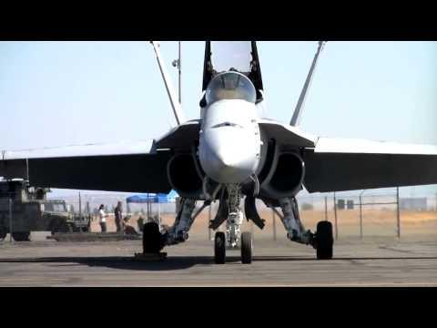 F/A-18C startup, preflight checks, taxi