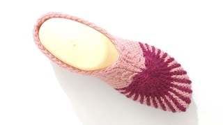New Easy Knitting Ladies Belly shoes आसान बुनाई लेडीज बेल्ली शूज