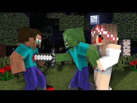 Monster School : Sad Herobrine   Zombie Life 8 - Minecraft Animation