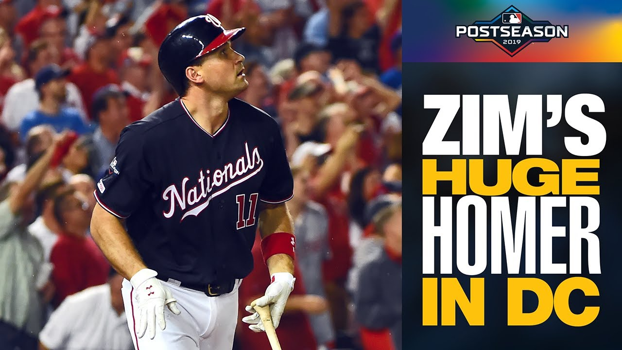 Ryan Zimmerman LAUNCHES 3-run home run to extend Nationals lead vs. Dodgers   NLDS Highlights