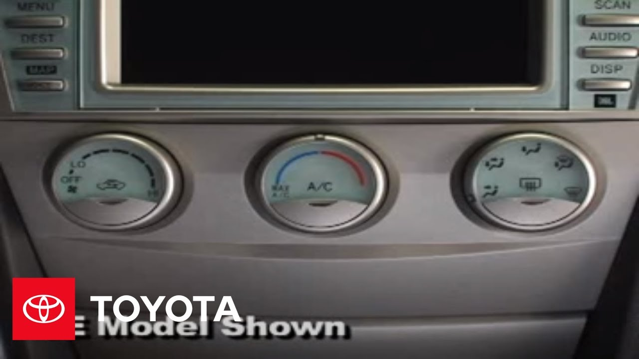 2007 2009 Camry How To Air Conditioning Ce Le Se Toyota Yaris821707 Ambient Temperature Sensor Circuit Diagram