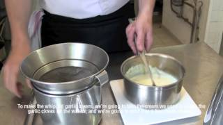 Garlic Whipped Cream With Wafers Recipe