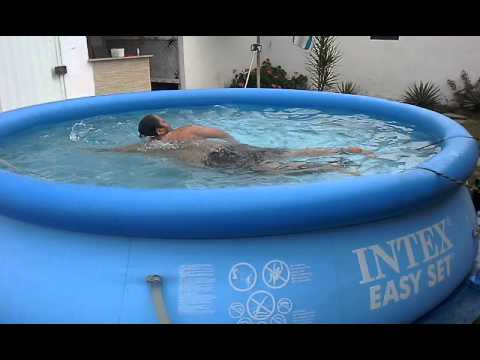 Nadando crawl em piscina de pl stico youtube - Piscinas de plastico ...