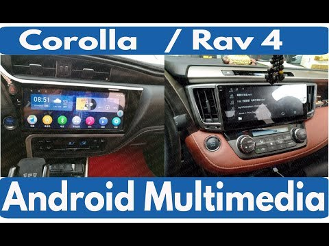 Андроид магнитола с экраном 12,3 дюйма для Toyota Corolla, Rav4