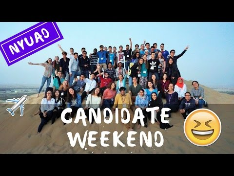 NYUAD Candidate Weekend 2016