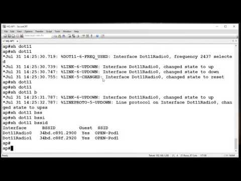 Configure the CAPWAP AP directly - YouTube