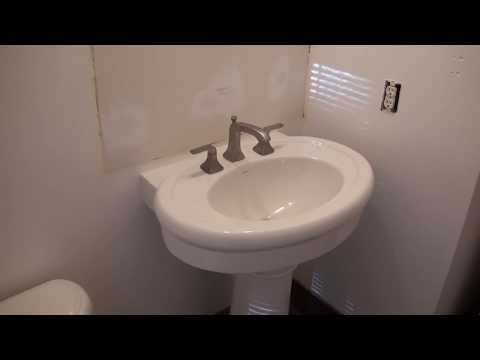 Pedestal Sink Installation. How To Install A Pedestal Sink.
