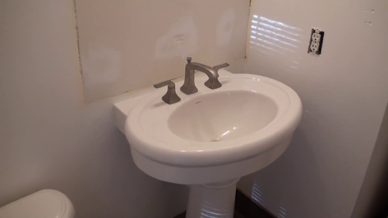 Pedestal Sink Installation How to Install a Pedestal Sink